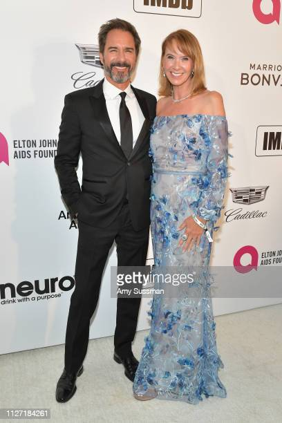 Eric McCormack and Janet Holden attend the 27th annual Elton John AIDS Foundation Academy Awards Viewing Party celebrating EJAF and the 91st Academy...