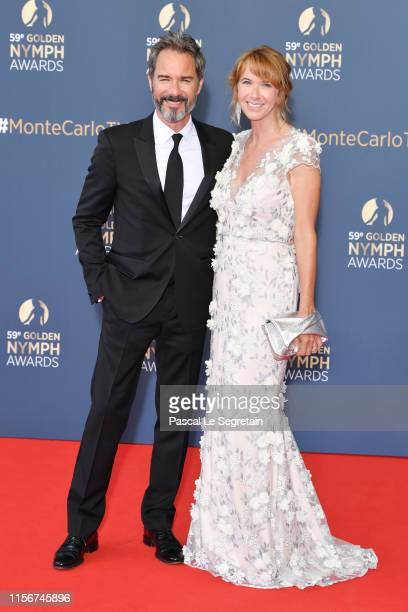 Eric McCormack and Janet Holden attend the closing ceremony of the 59th Monte Carlo TV Festival on June 18 2019 in MonteCarlo Monaco