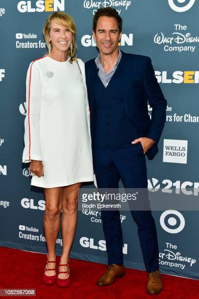 Eric McCormack and Janet Holden attend the GLSEN Respect Awards at the Beverly Wilshire Four Seasons Hotel on October 19 2018 in Beverly Hills...