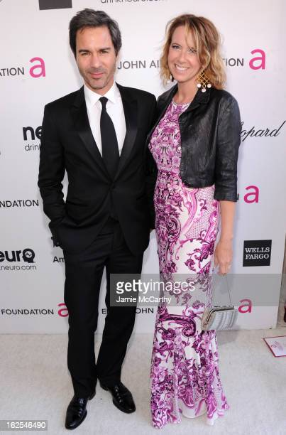 Eric McCormack and Janet Holden attends the 21st Annual Elton John AIDS Foundation Academy Awards Viewing Party at West Hollywood Park on February 24...