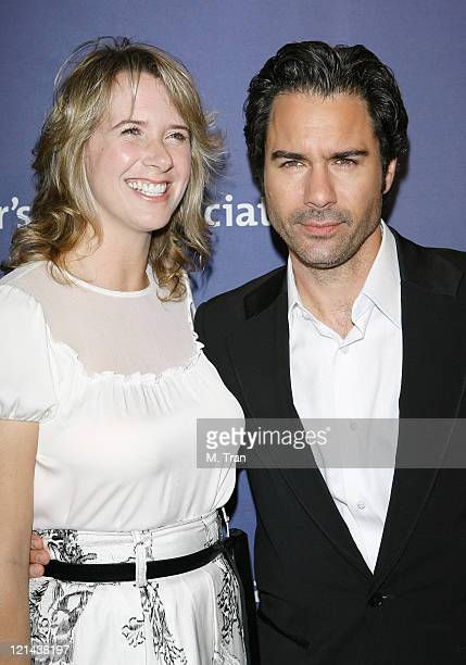 Eric McCormack and Janet Holden during 15th Annual Alzheimer's Benefit A Night At Sardi's at Beverly Hilton Hotel in Beverly Hills California United...