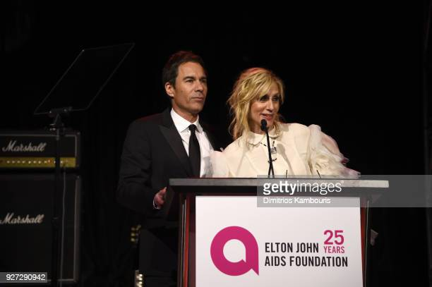 Eric McCormack and Judith Light attends the 26th annual Elton John AIDS Foundation Academy Awards Viewing Party sponsored by Bulgari celebrating EJAF...