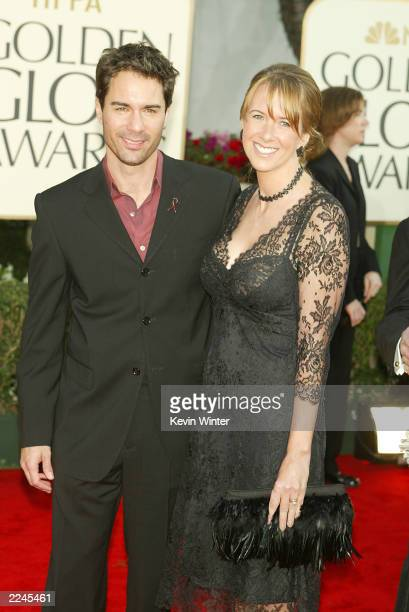 Eric McCormack and wife arrives at the 60th Annual Golden Globe Awards held at the Beverly Hilton Hotel in Beverly Hills CA January 19 2003 Photo by...