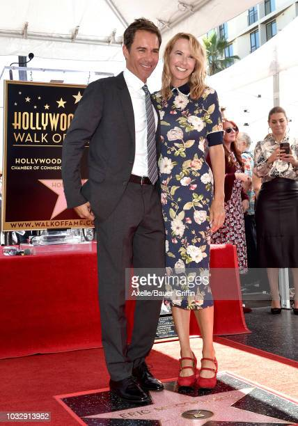 Eric McCormack and wife Janet Holden attend the ceremony honoring Eric McCormack with star on the Hollywood Walk of Fame on September 13 2018 in...