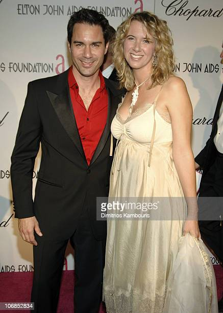 Eric McCormack and wife Janet Holden during 13th Annual Elton John AIDS Foundation Oscar Party Cohosted by Chopard Red Carpet at Pacific Design...