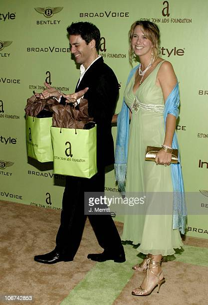 Eric McCormack and wife Janet Holden during Elton John AIDS Foundation's 12th Annual Oscar party cohosted by In Style Arrivals at Pearl in West...
