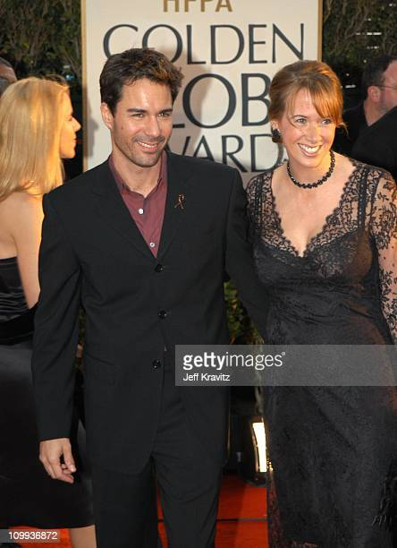 Eric McCormack and wife Janet Holden during The 60th Annual Golden Globe Awards Arrivals at Beverly Hilton Hotel in Beverly Hills CA United States