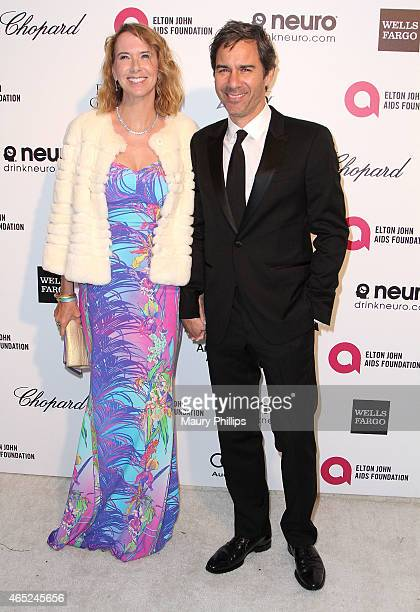 Eric McCormack and wife Janet McCormack arrive at the 23rd Annual Elton John AIDS Foundation Academy Awards Viewing Party at The City of West...