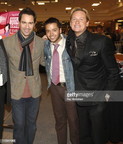 Eric McCormack Jai Rodriguez and Carson Kressley during Shop in the Name of Love Project Angel Food's Divine Design 2006 in Los Angeles California...