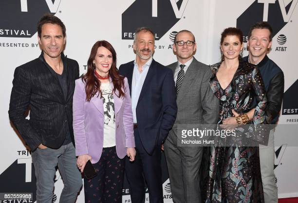 Eric McCormack Megan Mullally David Kohan Max Mutchnick Debra Messing and Sean Hayes attend the Tribeca TV Festival exclusive celebration for Will...