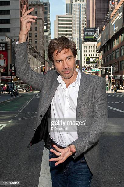 "Eric McCormack visits ""Extra"" in Times Square on June 16, 2014 in New York City."