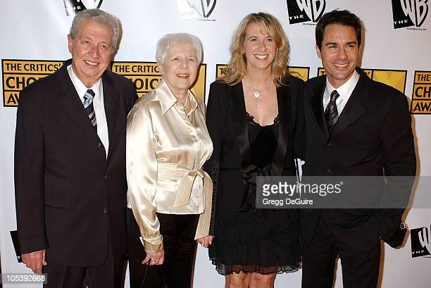 Eric McCormack wife Janet Holden and parents during 10th Annual Critics' Choice Awards Arrivals at Wiltern LG Theatre in Los Angeles California...