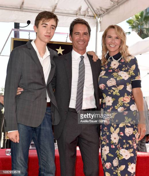 Eric McCormack wife Janet Holden and son Finnigan Holden McCormack attend the ceremony honoring Eric McCormack with star on the Hollywood Walk of...