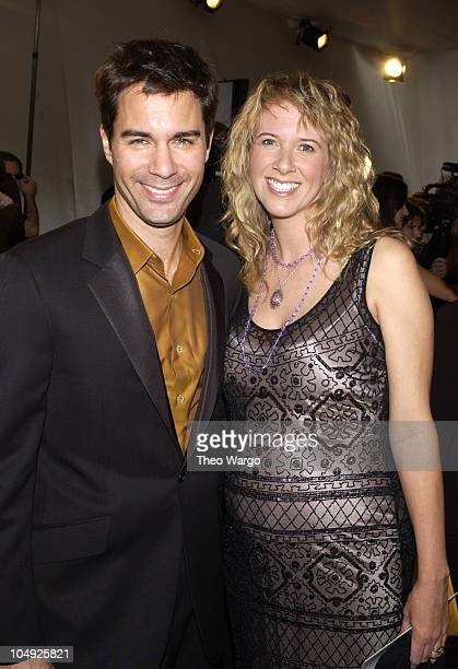 Eric McCormack wife Janet Holden during The 10th Annual Elton John AIDS Foundation InStyle Party Inside at Moomba Restaurant in Hollywood California...