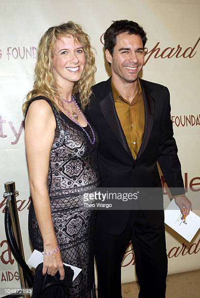 Eric McCormack wife Janet Holden during The 10th Annual Elton John AIDS Foundation InStyle Party Arrivals at Moomba Restaurant in Hollywood...