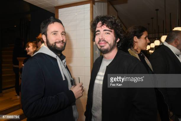 Eric Metzger and Arnaud Henry attend the Dinner at 'Le Bouillon' Restaurant as part 2 of 'Les Fooding 2018' Cocktail at Les Follies Pigalle 11 Place...