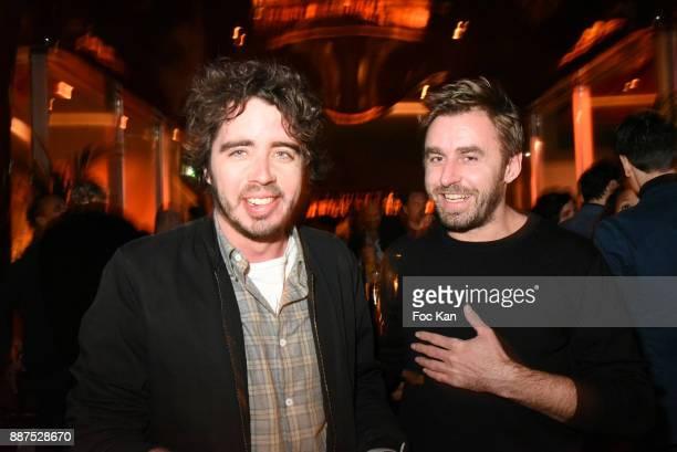 Eric Metzger and Vincent Legendre attend Technikart Party at Les Bains Paris Club on December 6 2017 in Paris France
