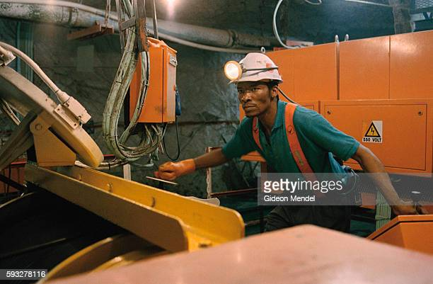 Eric Morake a winch operator at work in Great Noligwa gold mine He is one of the estimated 30% of South African goldminers diagnosed as HIV positive...