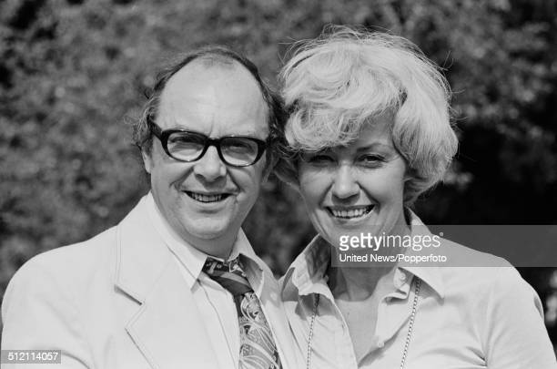 Eric Morecambe from comedy double act Morecambe and Wise posed with his wife Joan Bartlett at a BBC television press call in England on 5th August...