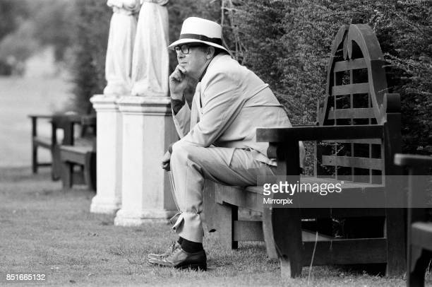 Eric Morecambe on location at Hever Castle where he is making a comedy film 18th August 1982