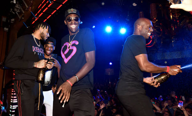 NV: The Toronto Raptors Head To Wynn Las Vegas To Celebrate NBA Championship Win At XS Nightclub With Drake And The Chainsmokers