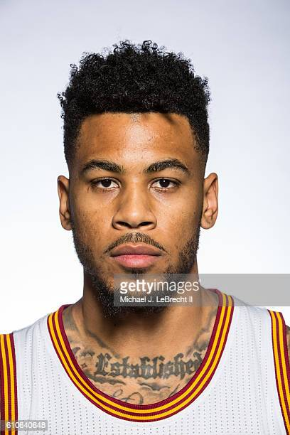 Eric Moreland of the Cleveland Cavaliers poses for a portrait during 20162017 Cleveland Cavaliers Media Day at the Cleveland Clinic Courts on...