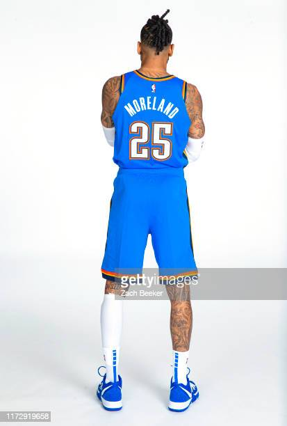 Eric Moreland of the Oklahoma City Thunder poses for a portrait during media day on September 30 2019 at Chesapeake Energy Arena in Oklahoma City...