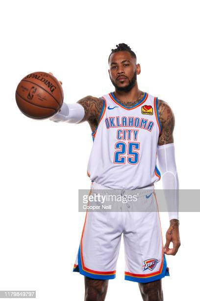 Eric Moreland of the Oklahoma City Thunder poses for a portrait during media day at Chesapeake Energy Arena on September 30 2019 in Oklahoma City...
