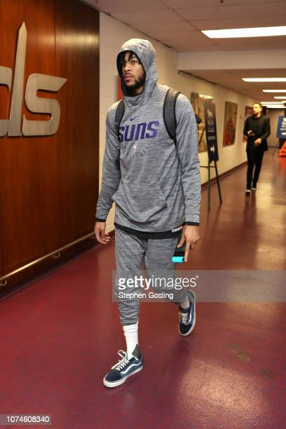 Eric Moreland of the Phoenix Suns arrives before the game against the Washington Wizards on December 22, 2018 at Capital One Arena in Washington, DC....