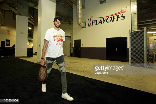 Eric Moreland of the Toronto Raptors leaves the arena after Game Six of the NBA Finals against the Golden State Warriors on June 13, 2019 at ORACLE...