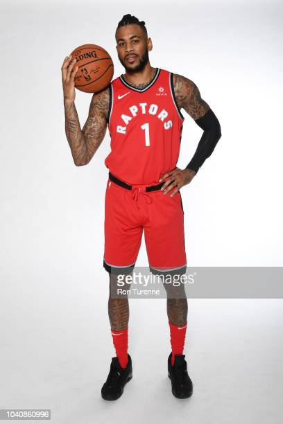 Eric Moreland of the Toronto Raptors poses for a portrait at media day on September 24, 2018 at the Air Canada Centre in Toronto, Ontario, Canada....