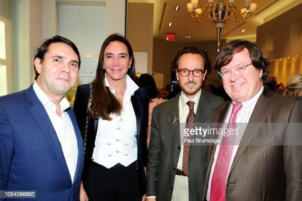 Eric Mourlot Samira Leal Joan Punyet Miró and Michel Bernardaud attend Launch of 'Parler Seul' collection with Mr Michel Bernardaud and Mr Joan...
