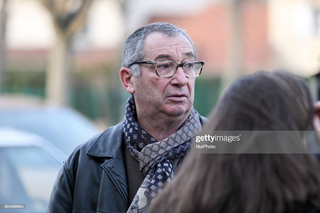 Eric Mouzin (C), the father of Estelle Mouzin, takes part in a silent march in memory of his daughter, on January 13, 2018 in Guermantes, near Paris, fifteen years after the disappearance of the nine-year old girl. Estelle Mouzin disappeared on January 9, 2003 in Guermantes village some 26 kilometers from Paris.