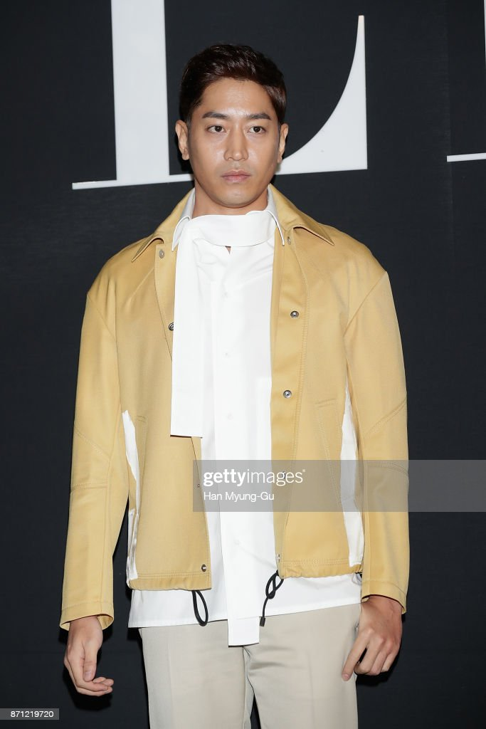 Eric Mun of South Korean boy band Shinhwa attends the 'VALENTINO' The VLTN Pop-Up Store Opening on November 7, 2017 in Seoul, South Korea.