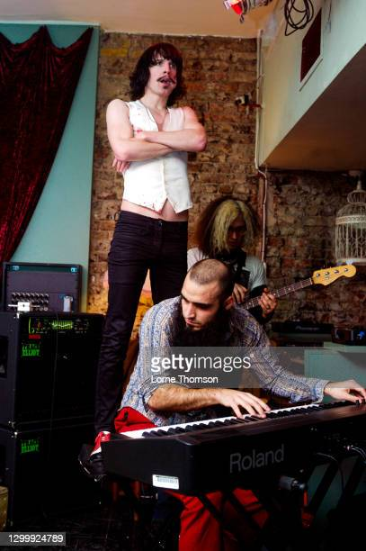 Eric Nally and Sky White of Foxy Shazam perform at The Flowerpot, London on February 20, 2010 in London, England.
