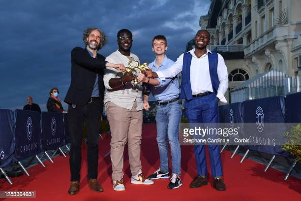 Eric Nantchouang Guillaume Brac Salif Cissé and Edouard Sulpice attend the Closing Ceremony of the 34th Cabourg Film Festival on June 29 2020 in...