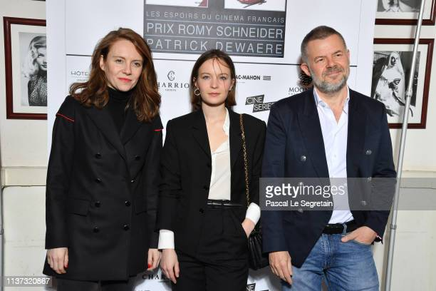 Eric Naulleau Diane Rouxel and Sophie Brafman attend the 37th Romy Schneider And Patrick Dewaere Awards Nominee Luncheon At Cinema Le Mac Mahon on...