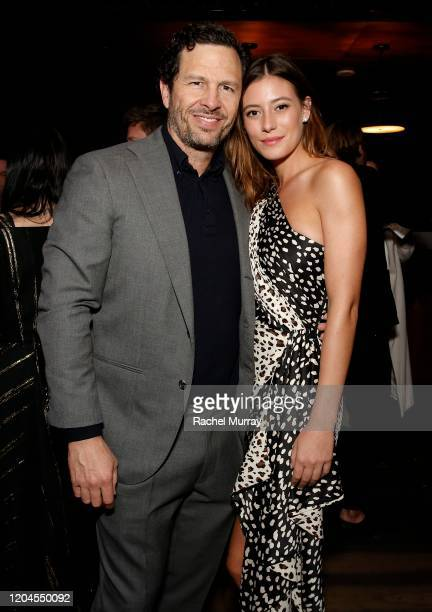 "Eric Newman and Alejandra Guilmant attend a special screening of ""NARCOS: MEXICO"" Season 2 presented by Netflix at Netflix Offices on February 06,..."