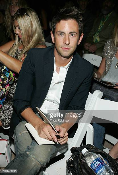 Eric Nicholson of Mary Claire attends the Sass Bide Spring 2006 fashion show during Olympus Fashion Week at Bryant Park September 10 2005 in New York...