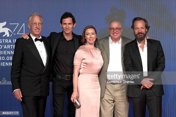 Eric Olson Christian Camargo Molly Parker Errol Morris and Peter Sarsgaard walk the red carpet ahead of the 'Wormwood' screening during the 74th...