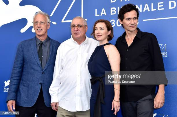 Eric Olson Errol Morris Molly Parker and Christian Camargo attend the 'Wormwood' photocall during the 74th Venice Film Festival at Sala Casino on...