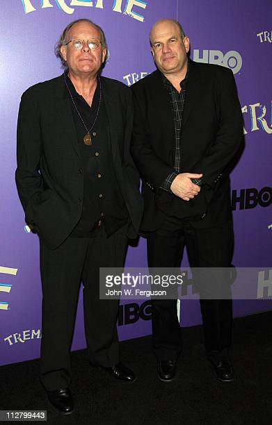 """Eric Overmyer and David Simon attends the """"Treme"""" New York Premiere at The Museum of Modern Art on April 21, 2011 in New York City."""