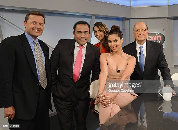 Eric Padron Ronald Acha Veronica Paysse Roselyn Sanchez and Ricardo Brown attend the Mundo Fox on August 4 2014 in Miami Florida