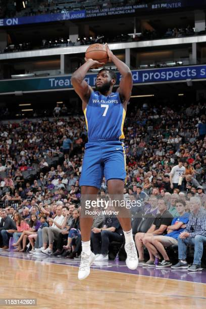 Eric Paschall of Golden State Warriors shoots the ball against the Sacramento Kings on July 1 2019 at the Golden 1 Center in Phoenix Arizona NOTE TO...