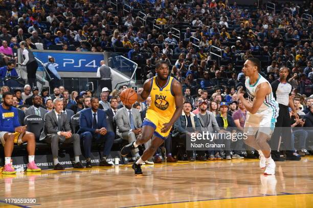 Eric Paschall of the Golden State Warriors drives to the basket against the Charlotte Hornets on November 2 2019 at ORACLE Arena in Oakland...