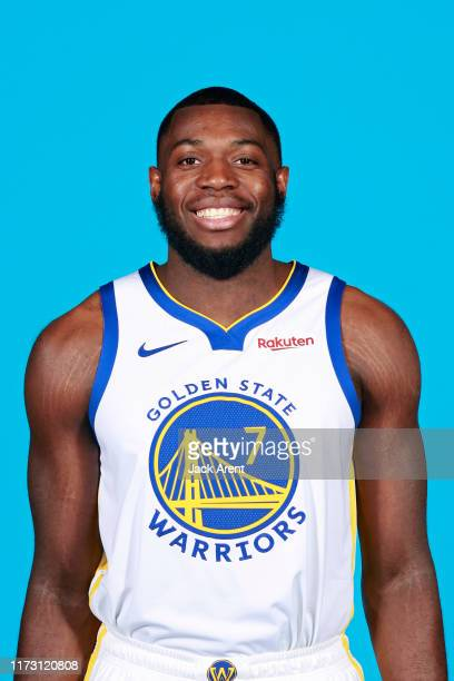 Eric Paschall of the Golden State Warriors poses for a head shot during media day on September 30 2019 at the Biofreeze Practice Facility in San...