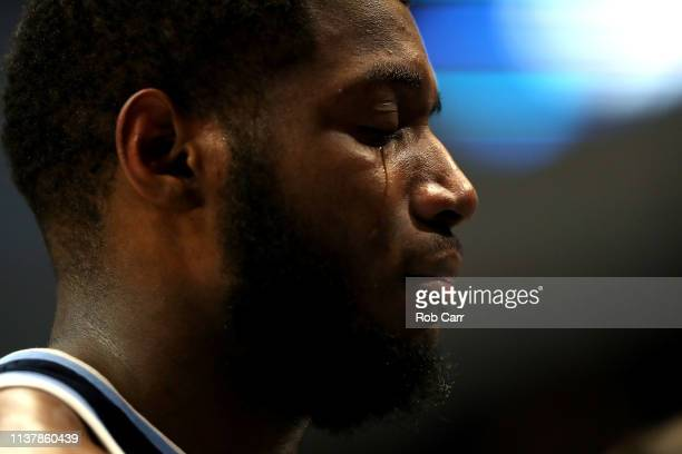 Eric Paschall of the Villanova Wildcats cries after his teams loss to the Purdue Boilermakers during the second round of the 2019 NCAA Men's...