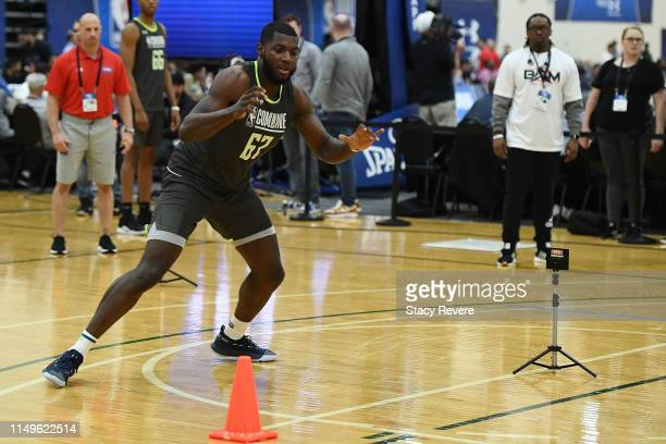 Eric Paschall participates in workouts during Day One of the NBA Draft Combine at Quest MultiSport Complex on May 16 2019 in Chicago Illinois NOTE TO...