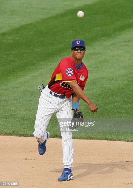 Eric Patterson of the U.S.A. Team fields against the World Teamduring the XM Satellite Radio All-Star Futures Game at PNC Park on July 9, 2006 in...