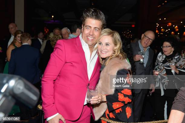 Eric Peteren and Maureen McCormick attend the Broadway premiere of 'Escape to Margaritaville' the new musical featuring songs by Jimmy Buffett at the...